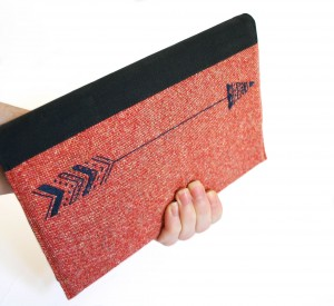 c002-notebook cover arrow on red